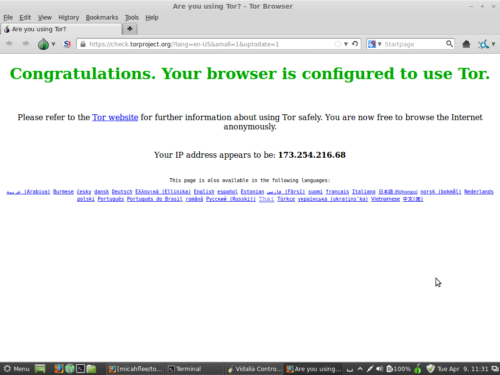 Tor Browser Success