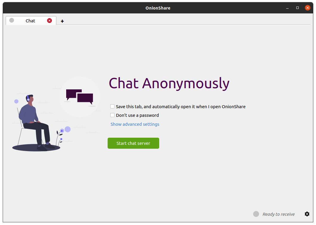 OnionShare 2.3 adds tabs, anonymous chat, better command line support, and quite a bit more